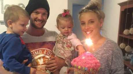 Glenn Dickson, pictured with fiancee Jessie-Lee Janssen and two of his children, has slammed the 'unfair' policy. Picture: 60 Minutes