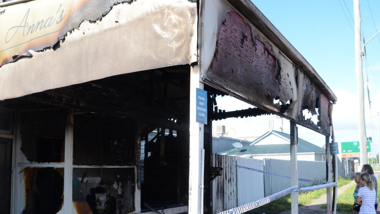 Anna's Skin & Beauty burnt down on Boundary Rd in Railway Estate. January 29, 2018 Photo Andrew Backhouse