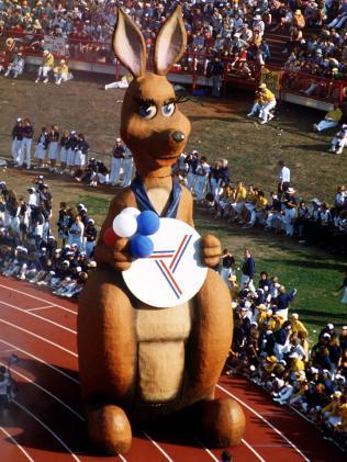 Mascot Matilda at the 1982 Commonwealth Games in Brisbane