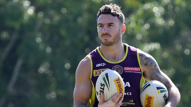 Broncos captain Darius Boyd will line up at fullback against the Cowboys. (AAP Image/Dave Hunt)