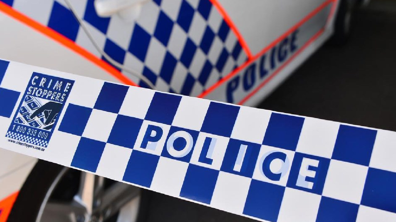 A woman allegedly threatened bank staff with a knife before crashing a stolen car northwest of Ipswich.