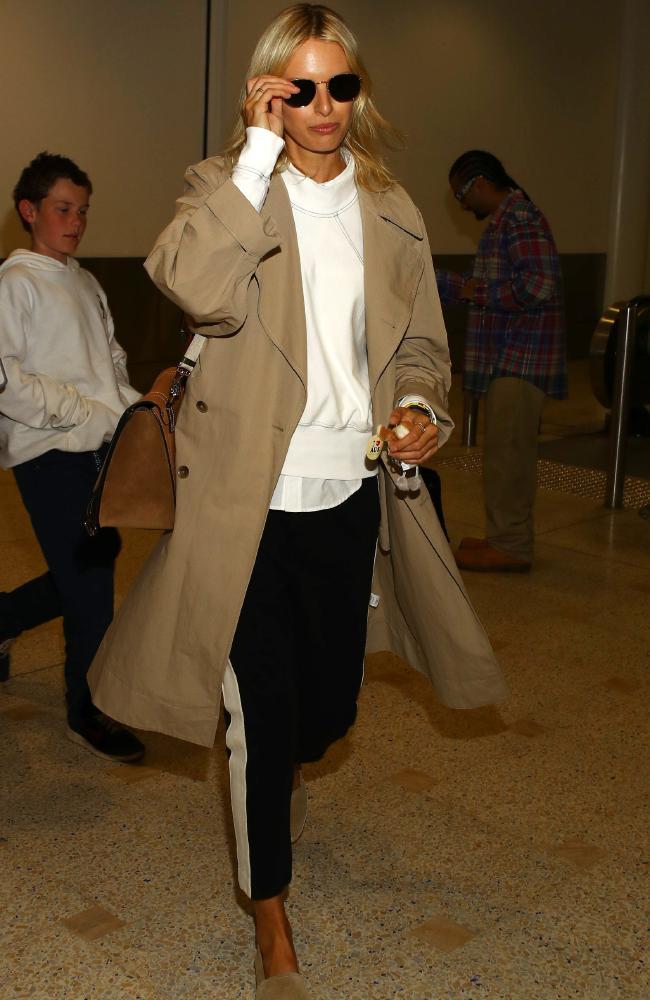 Karolina Kurkova pictured on arrival into Sydney.