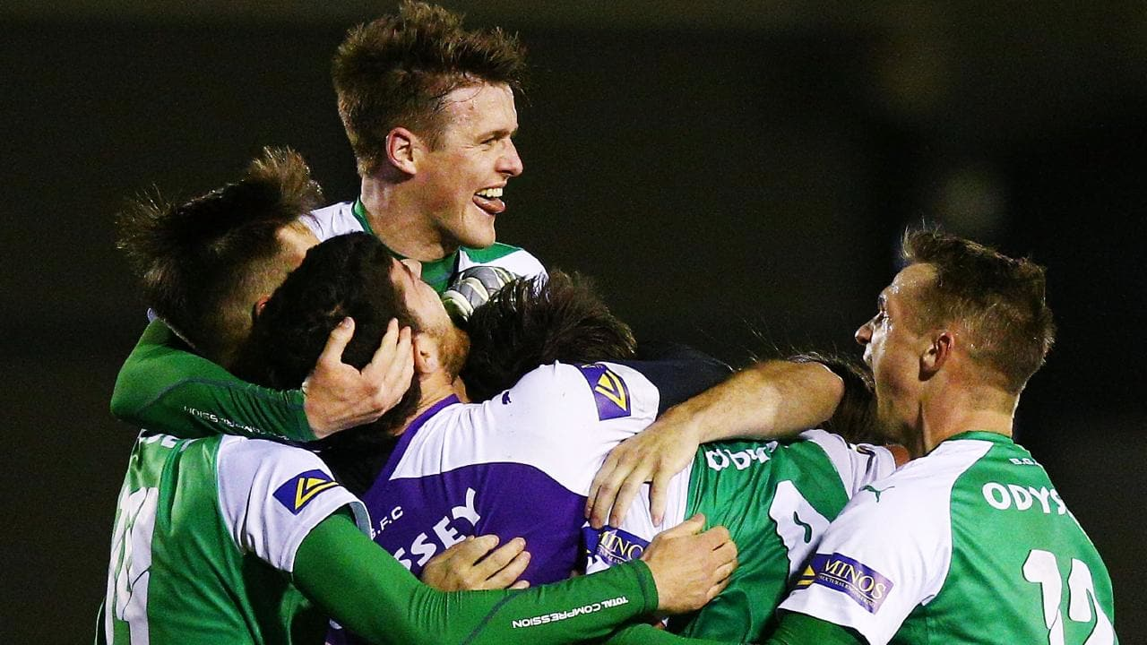 Bentleigh Greens caused an upset by beating Wellington Phoenix.