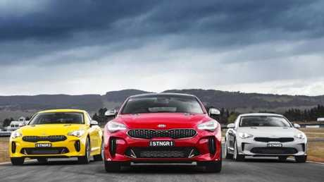 Road presence: The Kia Stinger turns heads for its looks.