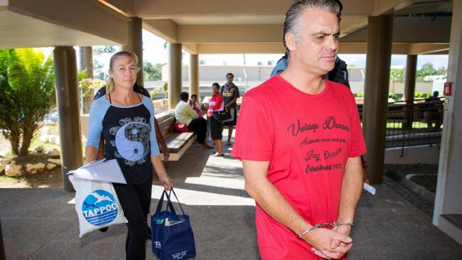 John and Yvette Nikolic are pictured at the Lautoka High Court complex last month. Picture: Mark Stewart.
