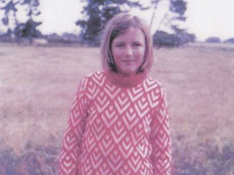 Picture of Joy Clarke, one of the students, taken in 1966 on the spot at Westall High School, where the UFO was spotted.