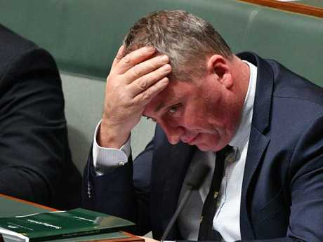 Barnaby Joyce has spoken about his struggle amid his marriage breakdown. Picture: AFP