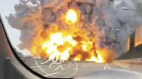 A dashcam captured the Bologna highway explosion