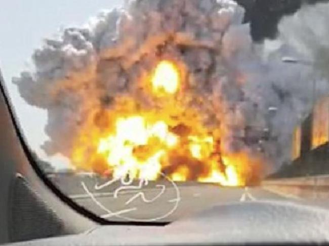 A dashcam captured the Bologna highway explosion