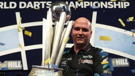 World darts champion Rob Cross.