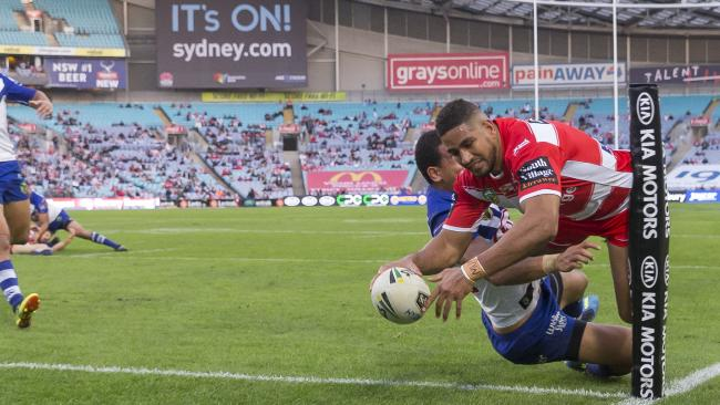 Nene MacDonald has scored nine tries for the Dragons this season. Picture: AAP