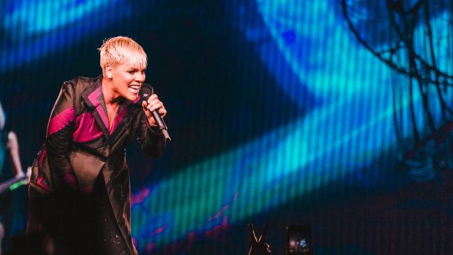 Pink is in hospital. She's sick. Let's cut her some slack. Picture: Jess Gleeson