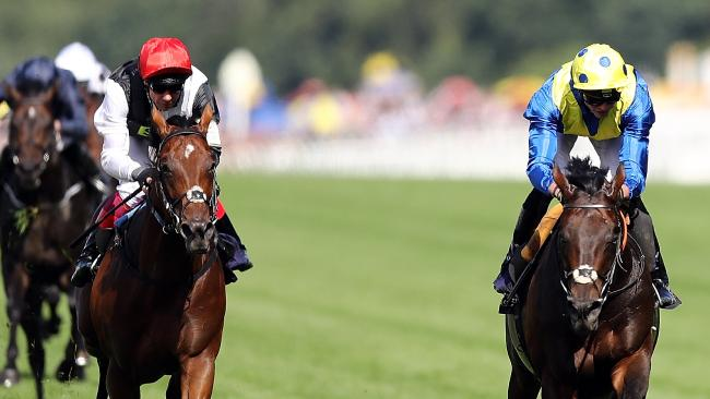 Poet's Word (right) storms to victory in the Prince Of Wales Stakes at Royal Ascot. Picture: Getty Images