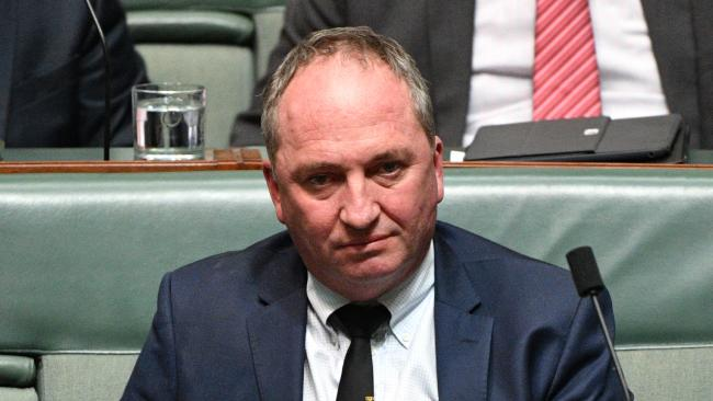 Barnaby Joyce has opened up on his depression. Picture: AAP