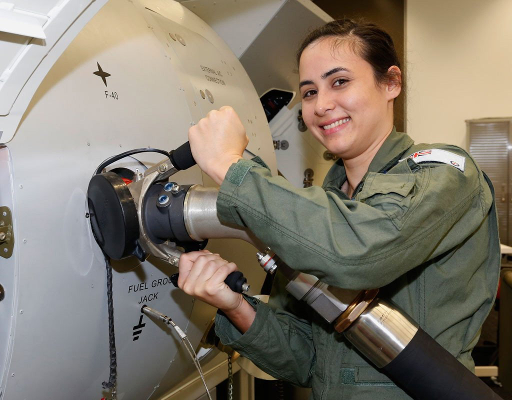 Tennille Jacobsen attended last month's inaugural Air Force Aviation Camp for Women at RAAF Base Amberley.
