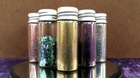 Glitter bottles.