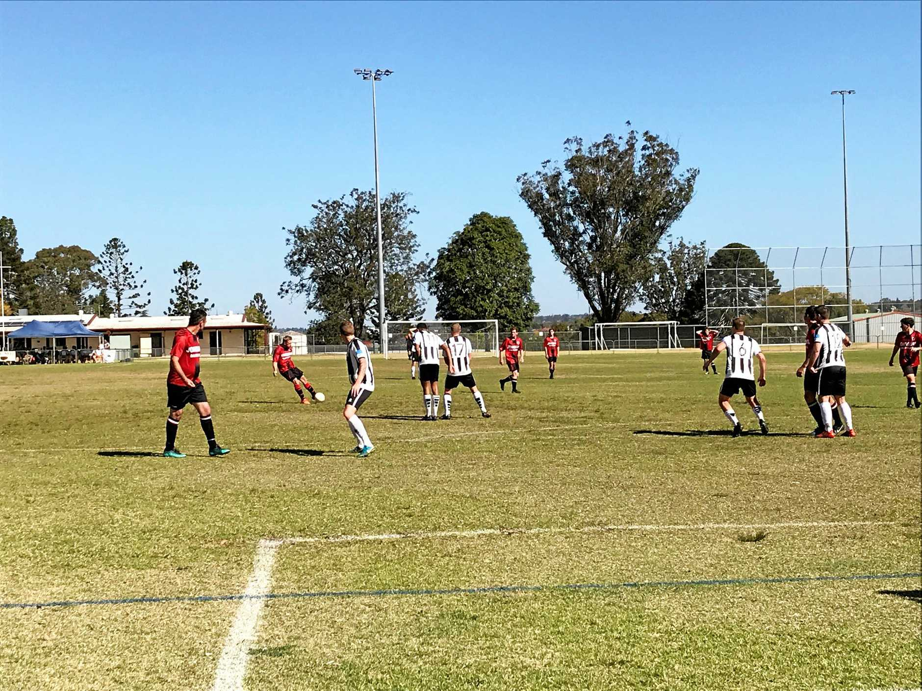 TOUGH MATCH: The Chinchilla Bears played top of the table Willowburn White at Toowoomba on Sunday.