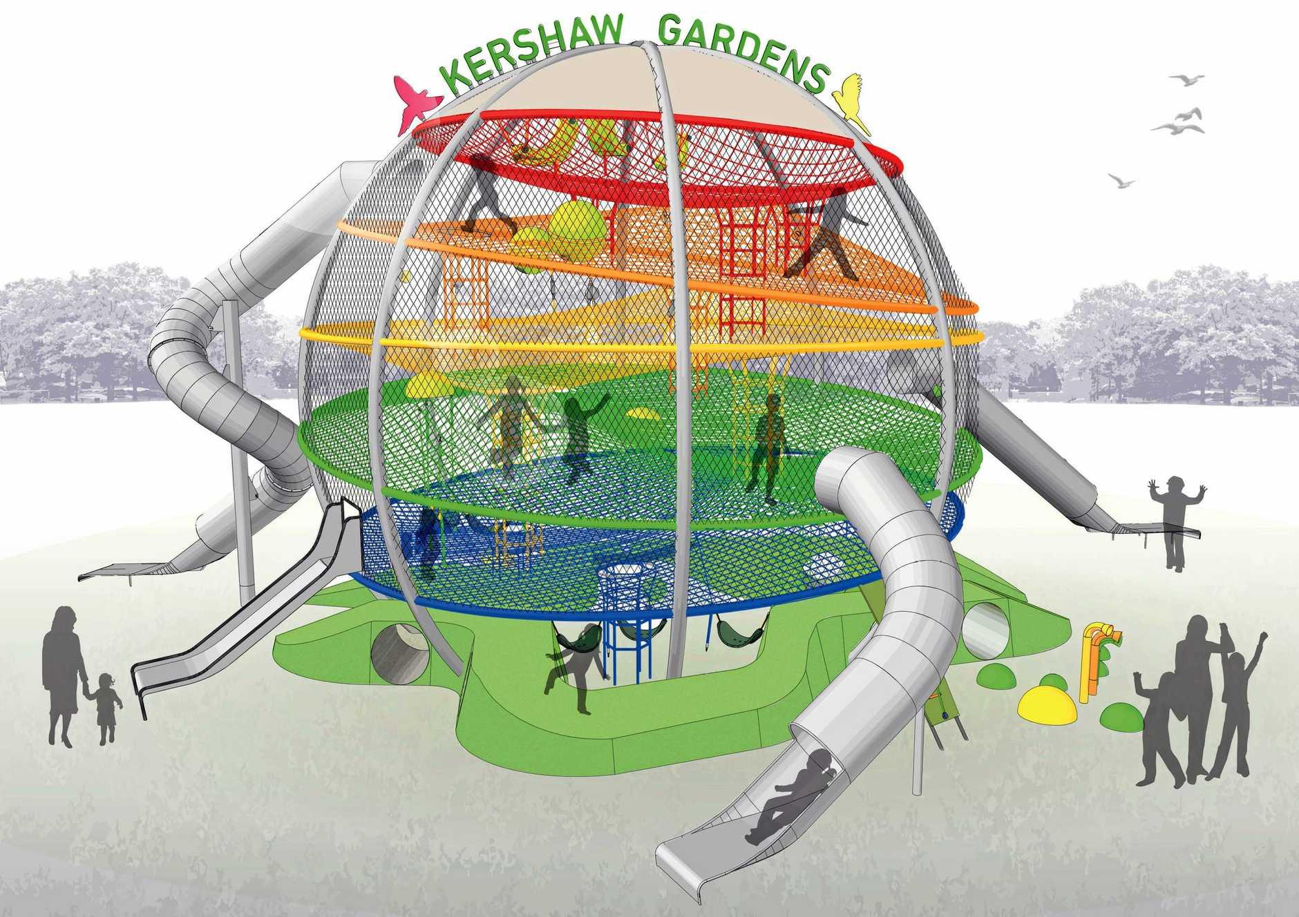 Concept designs plans for Kershaw Garden's Wyatt's Wonder Web.