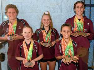 BLING WITH SWIM: Swimmers dominate at national school titles