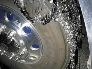 Damage as Bruce Highway melts beneath vehicles