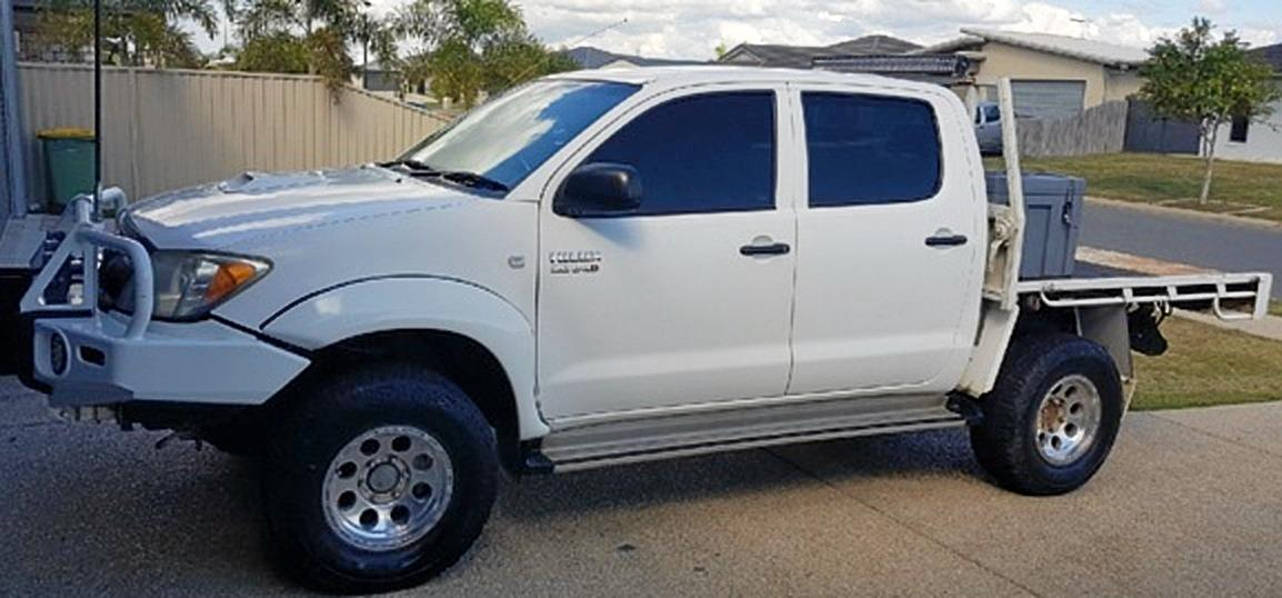 The white 2006 Toyota Hilux dual cab (912 LGB) stolen from Hill Street, Eton (Recreation Grounds) about 8.30am on August 6.