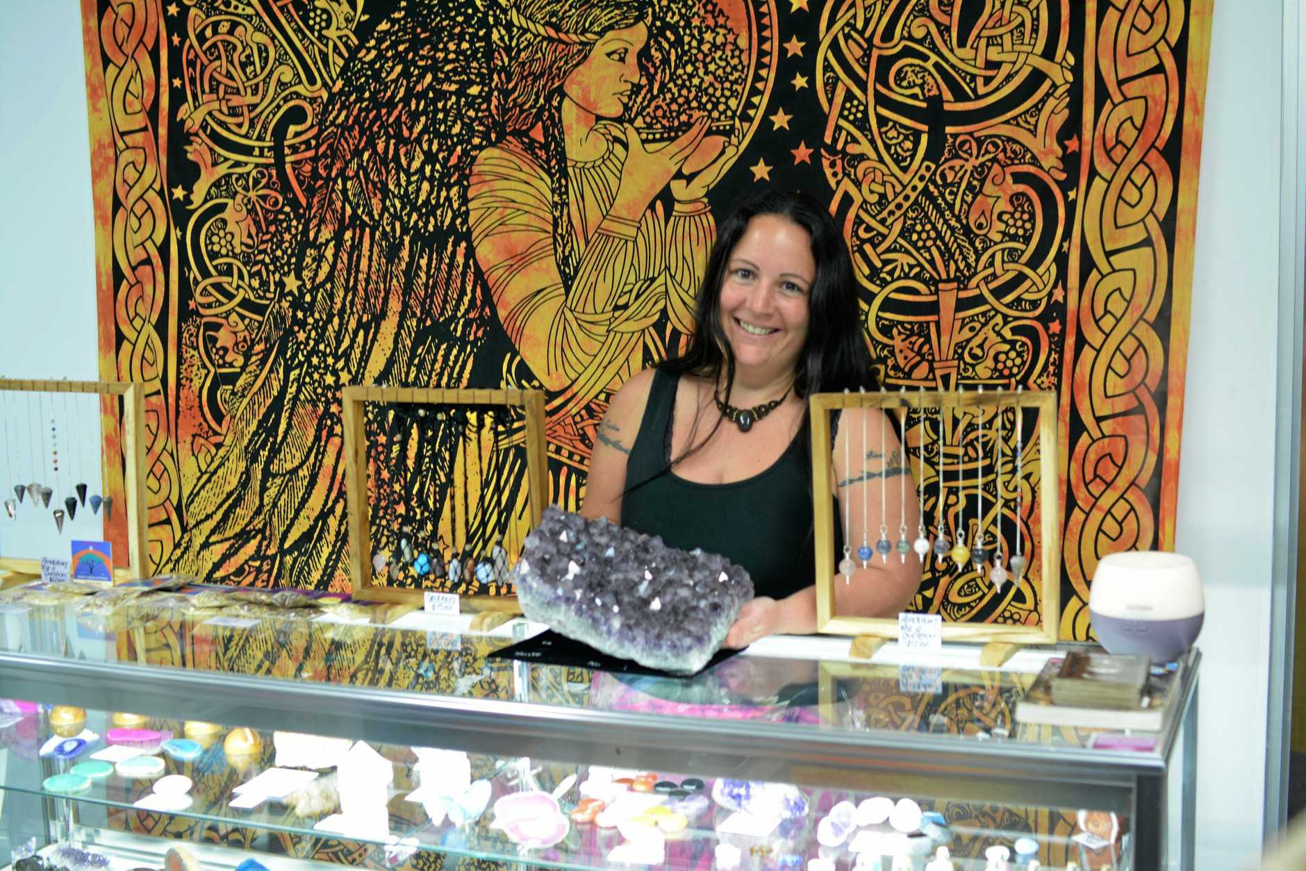 LIVING THE DREAM:  Single mother of four, Tracie Callaghan, 35, has opened her one stop healing shop in Lismore.