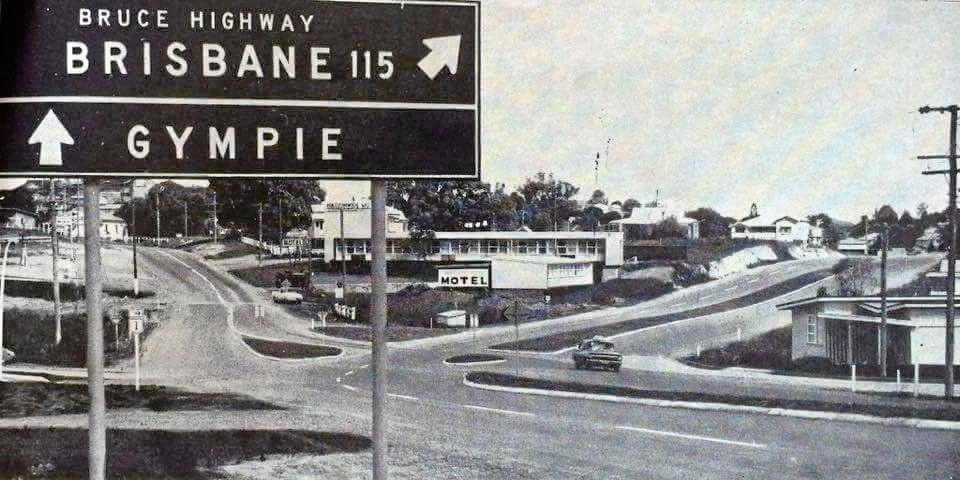 BACK IN THE DAY: Only 115 miles to Brisbane via the Gympie town centre 'bypass' after it's completion in 1968.