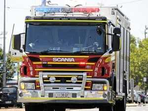 Fireys, paramedics rush to car on roof