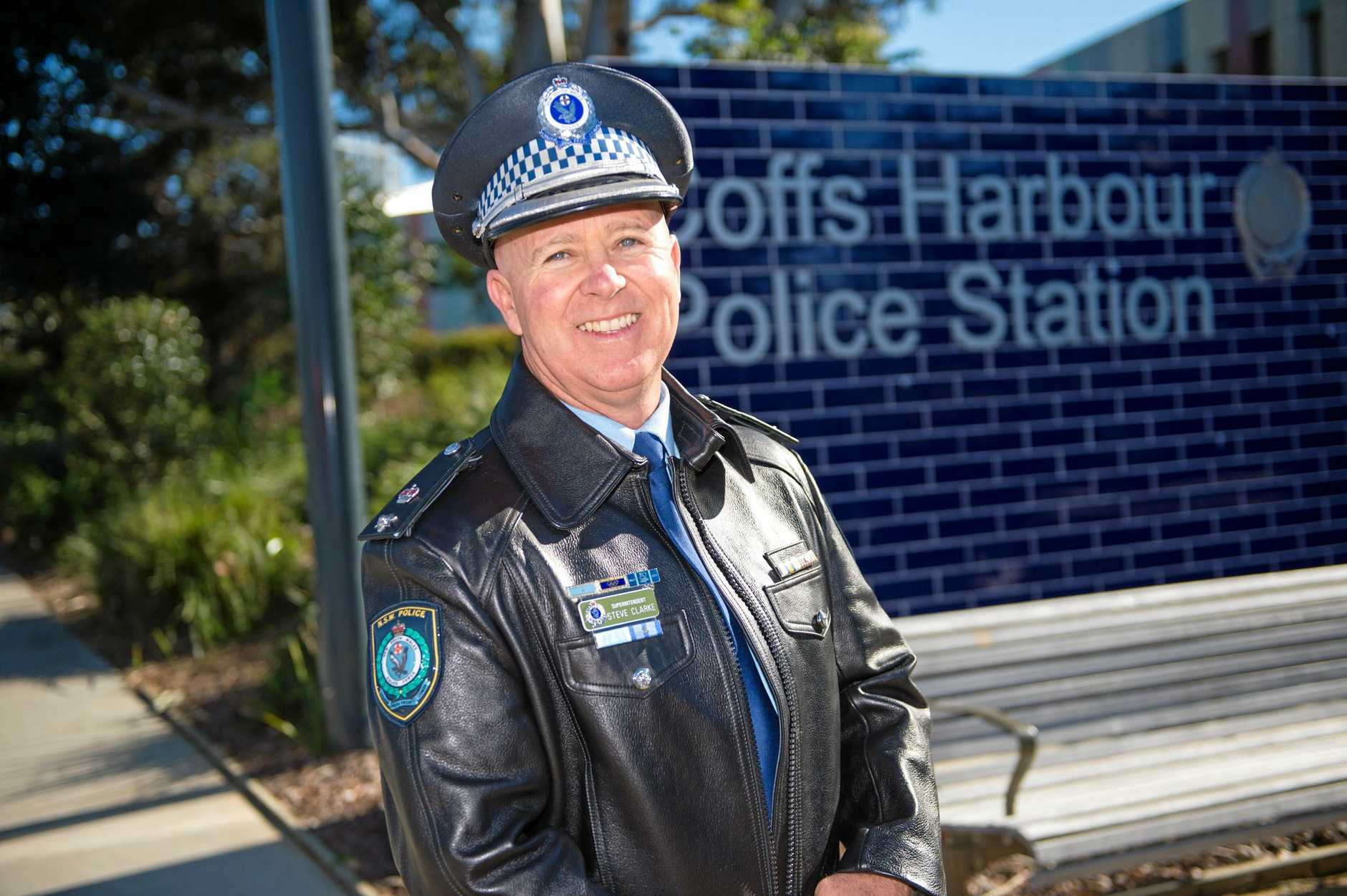 Superintendent Steve Clarke pictured today at the Coffs Harbour Police Station.