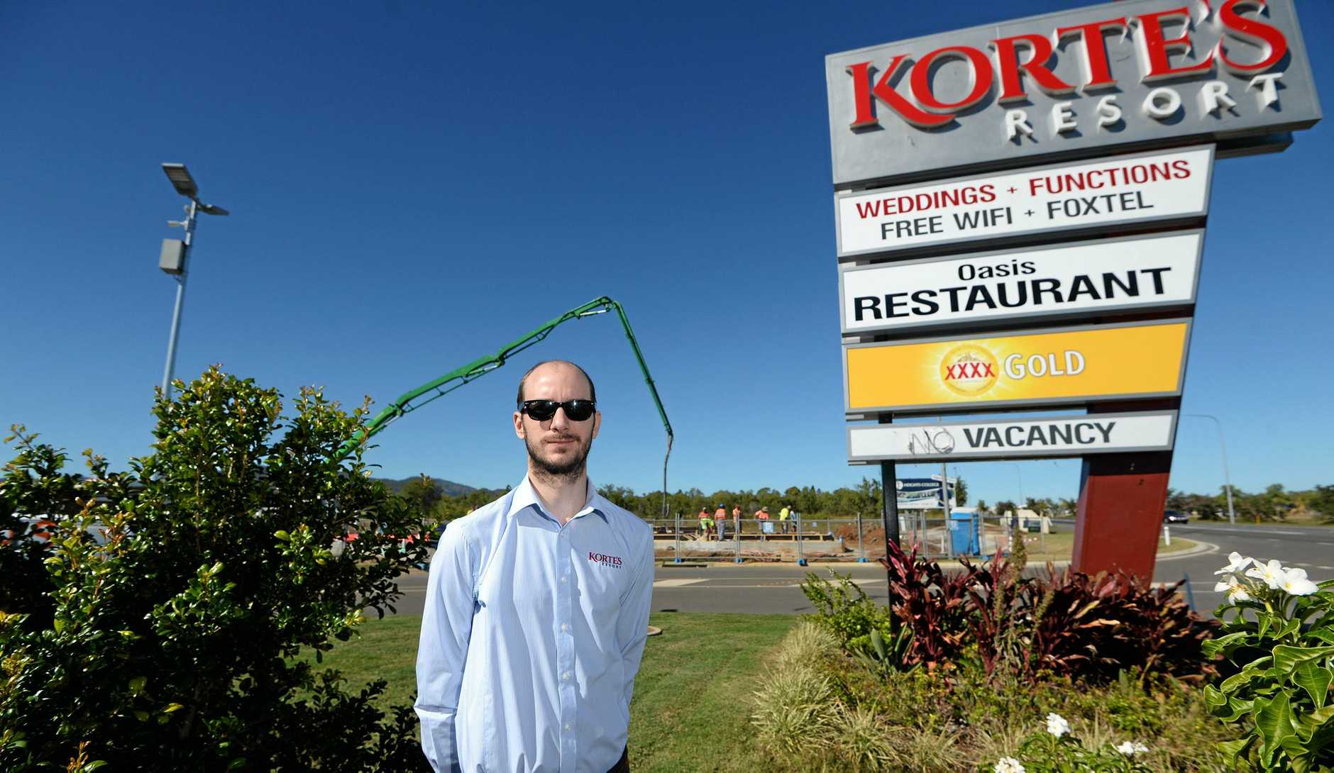 Brad Korte at Korte's Resort in Parkhurst where they are exapanding the site to include a 400 seat function venue.