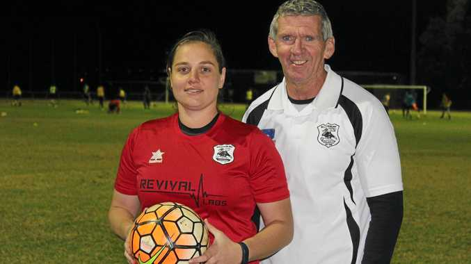 HELPING OTHERS: Willowburn women's captain Kiama Gray and coach Steve Pennells are looking forward to the club's Ladies Day on Saturday. It will serve as a fundraiser to support Blush Cancer Care.