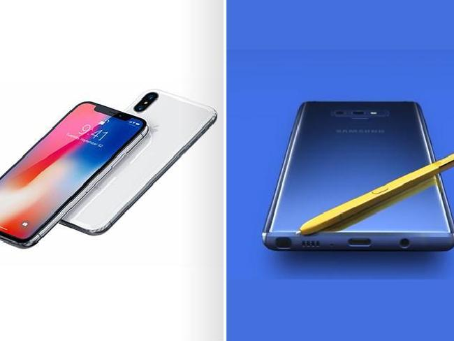 The iPhone X and Samsung Galaxy Note 9 will battle it out for the top end of the market.