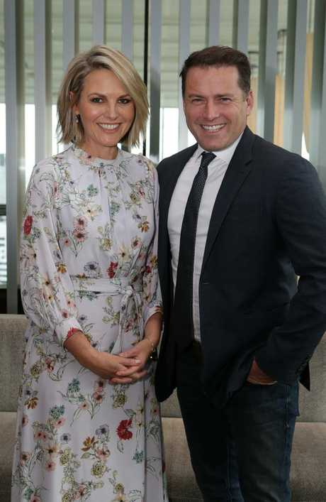 Georgie Gardner and Karl Stefanovic. Picture: Julie Kiriacoudis