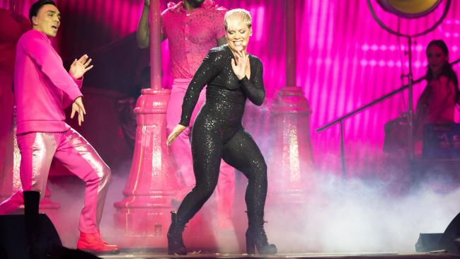 Pink has had to postpone her physically demanding shows due to illness. (Pic: Richard Wainwright/AAP)