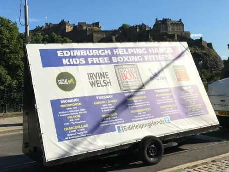 The trailer was used to promote the charity Edinburgh Helping Hands. Picture: Bradley Welsh/Twitter