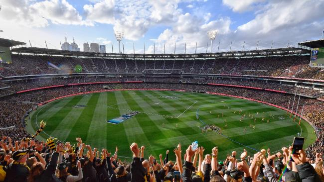 The AFL will freeze prices for all bottom-tier tickets at every ground in September — including for the grand final. Picture: Jason Edwards