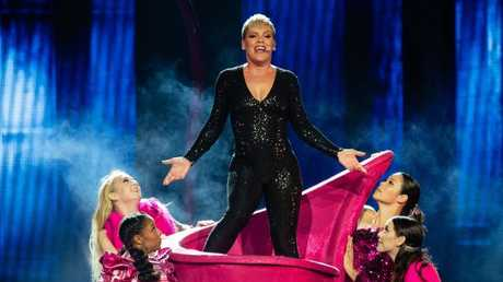 Rescheduling dates on Pink's mammoth tour has proven a logistical challenge. Picture: AAP