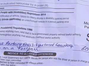 Fined for parking in own driveway