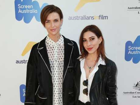 Ruby Rose with ex-girlfriend Jessica Origliasso in 2017. Picture: Getty Images