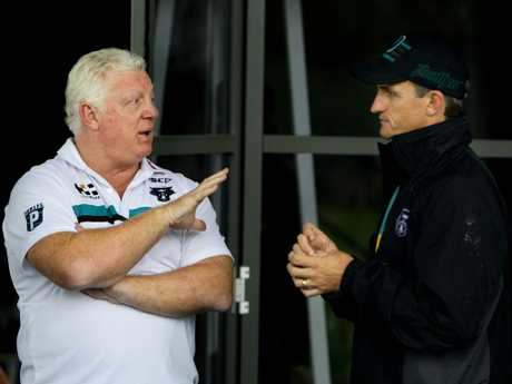 Phil Gould and Ivan Cleary during his first go round at the Penrith Panthers.
