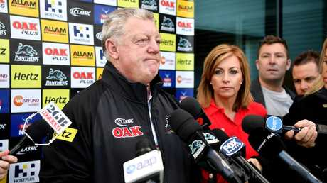 Penrith Panthers general manager Phil Gould announced Anthony Griffin's sacking on Monday.