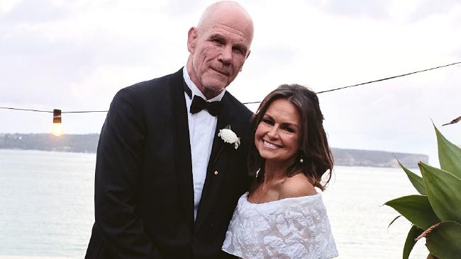 Lisa Wilkinson and Peter Fitzsimons renewing their wedding vows. Picture: Instagram