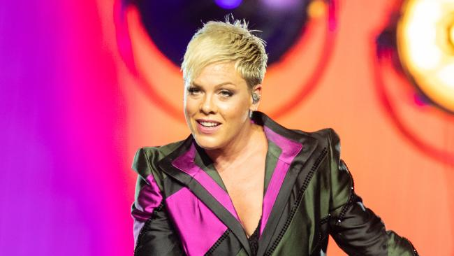Pink's Australian tour has been plagued with ill health. Picture: AAP