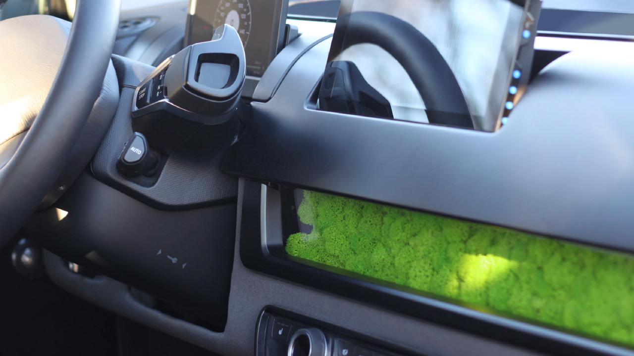 Green tinge: The Sion uses moss as an air filter.