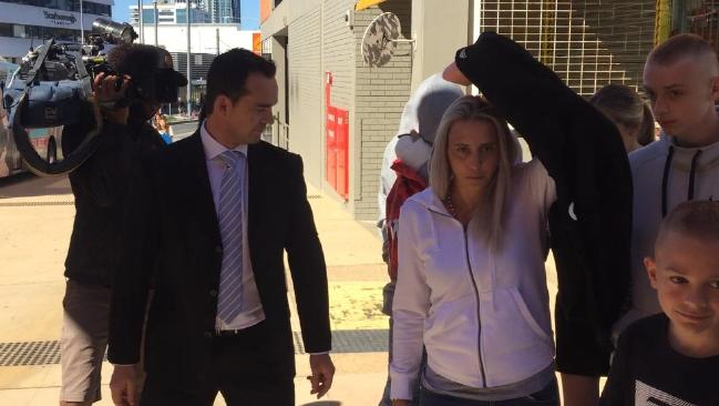 Steven Smith, the man accused of stabbing Gold Coast millionaire Paul Picone, leaves court. Picture: Nicolas McElroy