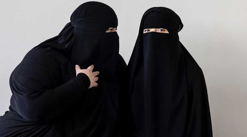 The Niqab head covering. Picture: Jenny Evans