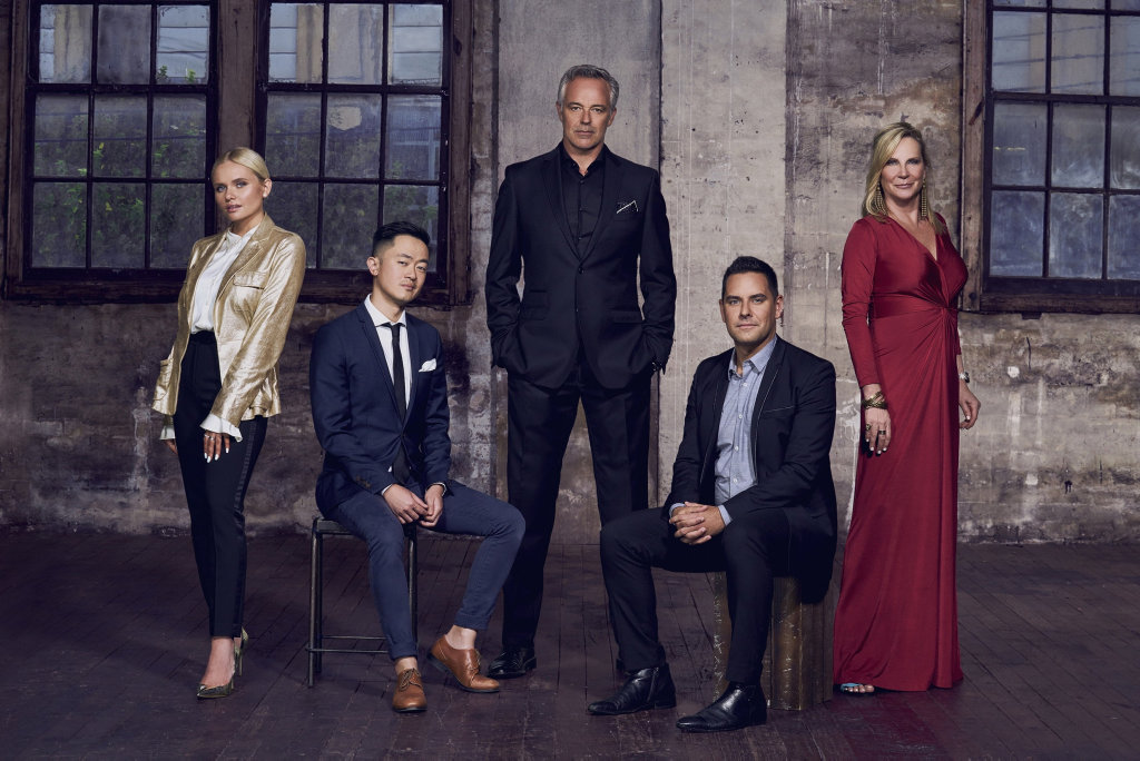 Alli Simpson, Benjamin Law, Cameron Daddo, Alex Greenwich and Skye Leckie will star in season two of the TV series Filthy Rich & Homeless. Supplied by SBS-TV.