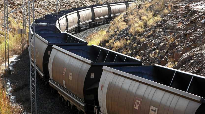 Coal train in Central Queensland