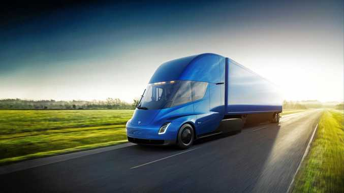 TECH TITAN: Tesla's stunning Semi electric truck prototypes boast a 800-plus km range, zero vehicle emissions, and running cost reductions of about 17 cents per km.