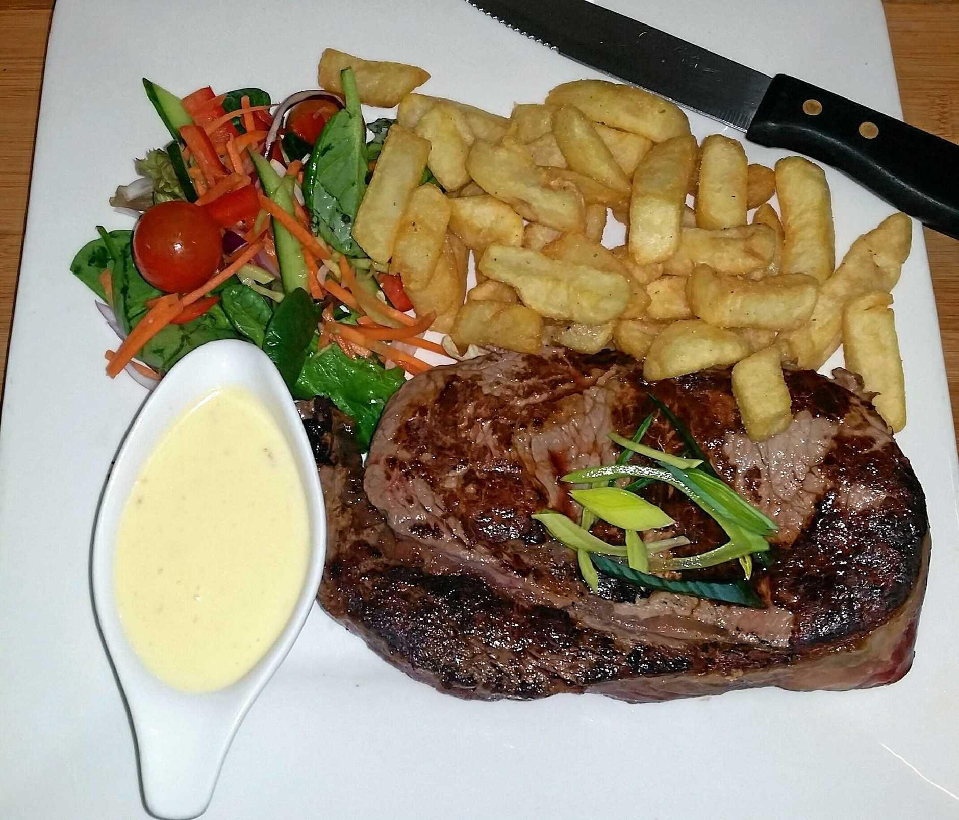 BACKING LOCALS: Stirling Restaurant serves local steaks.